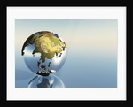 A world globe showing the continents of India, Asia and Japan. by Corey Ford
