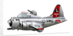 Cartoon illustration of a Boeing B-17 Flying Fortress. by Anonymous