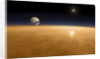 Saturn above the thick atmosphere of its moon Titan. by Fahad Sulehria