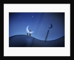 Illustration of cartoon characters stealing the moon. by Vladislav Gerasimov