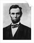 Digitally restored Civil War era vector photo of President Abraham Lincoln. by John Parrot