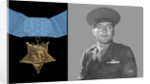 Digitally restored vector portrait of Sergeant John Basilone and the Medal of Honor. by John Parrot