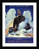 World War Two poster of an American Air Force Pilot staring into the clouds. by John Parrot