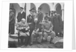 Digitally restored photo of leaders meeting at the Yalta Conference. by John Parrot