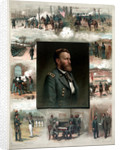Digitally restored American history print of Ulysses S. Grant and his achievements. by John Parrot