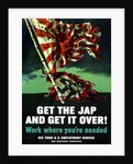 Digitally restored war propaganda poster. by John Parrot