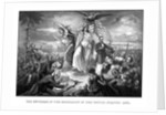Digitally restored Civil War print of Lady Liberty during the outbreak of war. by John Parrot