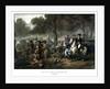 Digitally restored print of the Battle of the Monongahela. by John Parrot