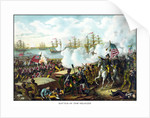 Digitally restored War of 1812 print at the Battle of New Orleans. by John Parrot