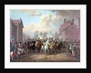 Digitally restored Revolutionary War painting of General George Washington and his men. by John Parrot