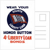 Vintage World War II poster of a 4th Liberty Loan Honor Button. by John Parrot