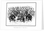American Civil War print featuring a group portrait of early war Union Generals. by John Parrot