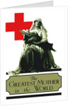 Vintage World War I poster of a Red Cross nurse cradling a wounded soldier. by John Parrot