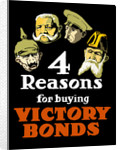 World War I poster featuring the heads of four leaders from the Central Powers. by John Parrot