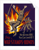 Vintage World War II poster of three soldiers in combat. by John Parrot