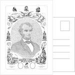 Portrait of Abraham Lincoln formed from the words of The Emancipation Proclamation. by John Parrot
