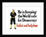Vintage World War One poster of a sailor standing with his arms crossed. by John Parrot