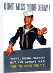 Vintage World War II poster of a sailor waving goodbye. by John Parrot