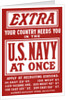 Vintage World War II poster is a plea for Navy recruits. by John Parrot