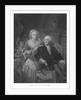 Vintage American History print of President George Washington and his family. by John Parrot