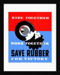 Vintage WPA poster of a gear and a tire. by John Parrot