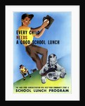 Vintage World War II poster showing healthy and active children. by John Parrot