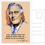 Vintage World War II artwork of President Franklin Delano Roosevelt by John Parrot