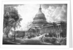 Digitally restored vintage print of the U.S. Capitol Building. by John Parrot