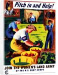 World War II propaganda poster of women doing chores on a farm. by John Parrot