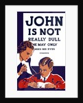 Vintage WPA propaganda poster featuring a teacher and young boy reading. by John Parrot