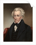Vintage American history painting of President Andrew Jackson. by John Parrot
