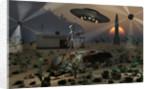 Artist's concept of a science fiction alien landscape. by Mark Stevenson