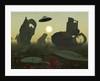 Artist's concept of an alien scrap yard. by Mark Stevenson