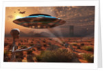 Artist's concept of stealth technology being developed on Area 51. by Mark Stevenson
