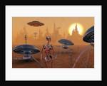 Artist's concept of life on Mars long ago. by Mark Stevenson
