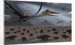 Reptoids ride on the backs of Quetzalcoatlus using telepathy. by Mark Stevenson