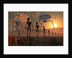 A ghostly robotic army is on the move. by Mark Stevenson