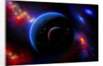 An alien world and it's moon. by Mark Stevenson