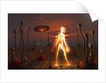 An alien light being. by Mark Stevenson