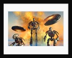 A giant robot force on the attack. by Mark Stevenson