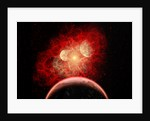 A supernova destroying its system of planets in the depths of our galaxy. by Mark Stevenson