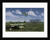 German Messerschmitt Me 262 jetfighters at an airfield in Germany. by Mark Stevenson