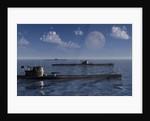 A wolfpack of German U-Boat submarines. by Mark Stevenson