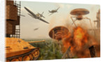 An alternate reality where Allied and German Forces unite in fighting an alien invasion. by Mark Stevenson