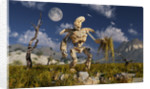 An advanced robot on an exploration mission on an alien world. by Mark Stevenson