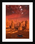 An advanced race exploring the ancient relics of a martian civilization. by Mark Stevenson