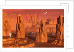 A team of explorers from Earth exploring Mars ancient monuments. by Mark Stevenson