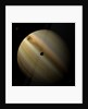 Artist's depiction of a gas giant planet in interstellar space with three orbiting moons. by Marc Ward