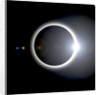 An artist's depiction of a solar eclipse. by Marc Ward