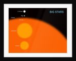 The sun compared to four typical large stars. by Ron Miller